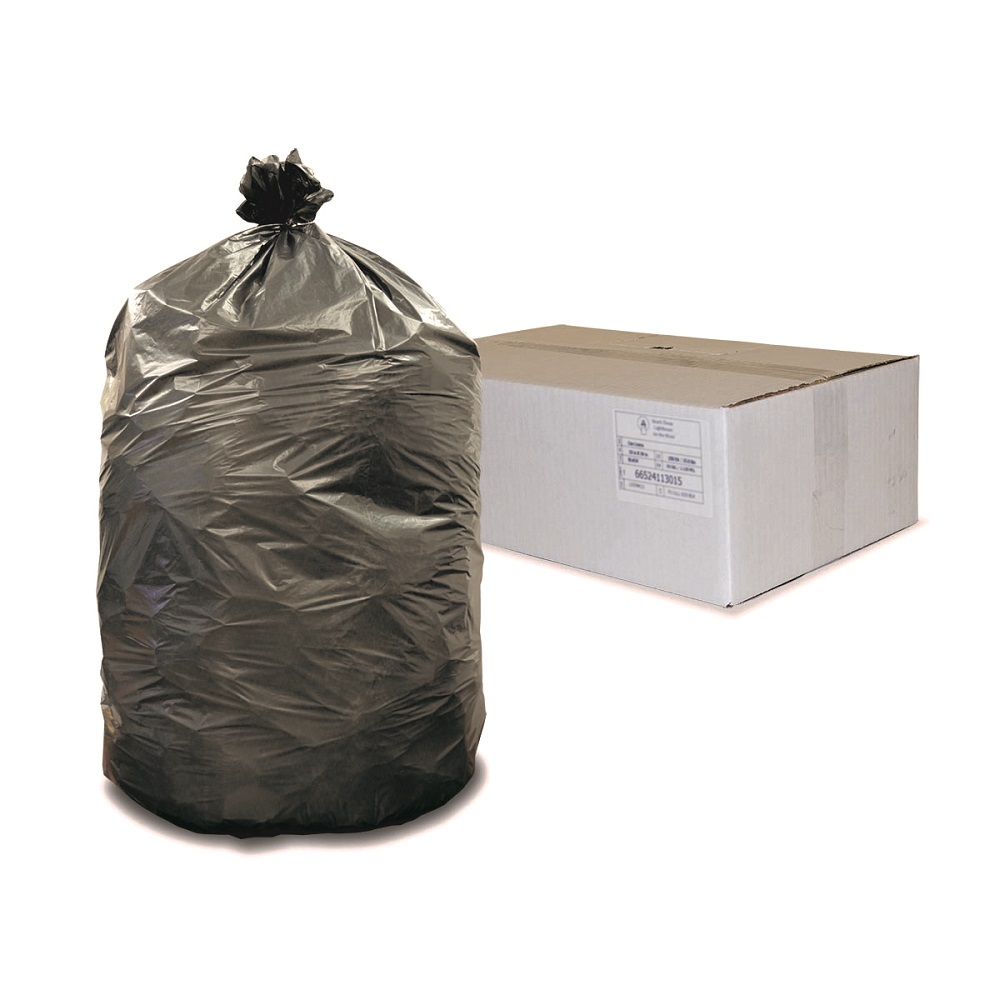 Ultimate Low Density Contractor Trash Can Liners Black 60 Gallon Capacity