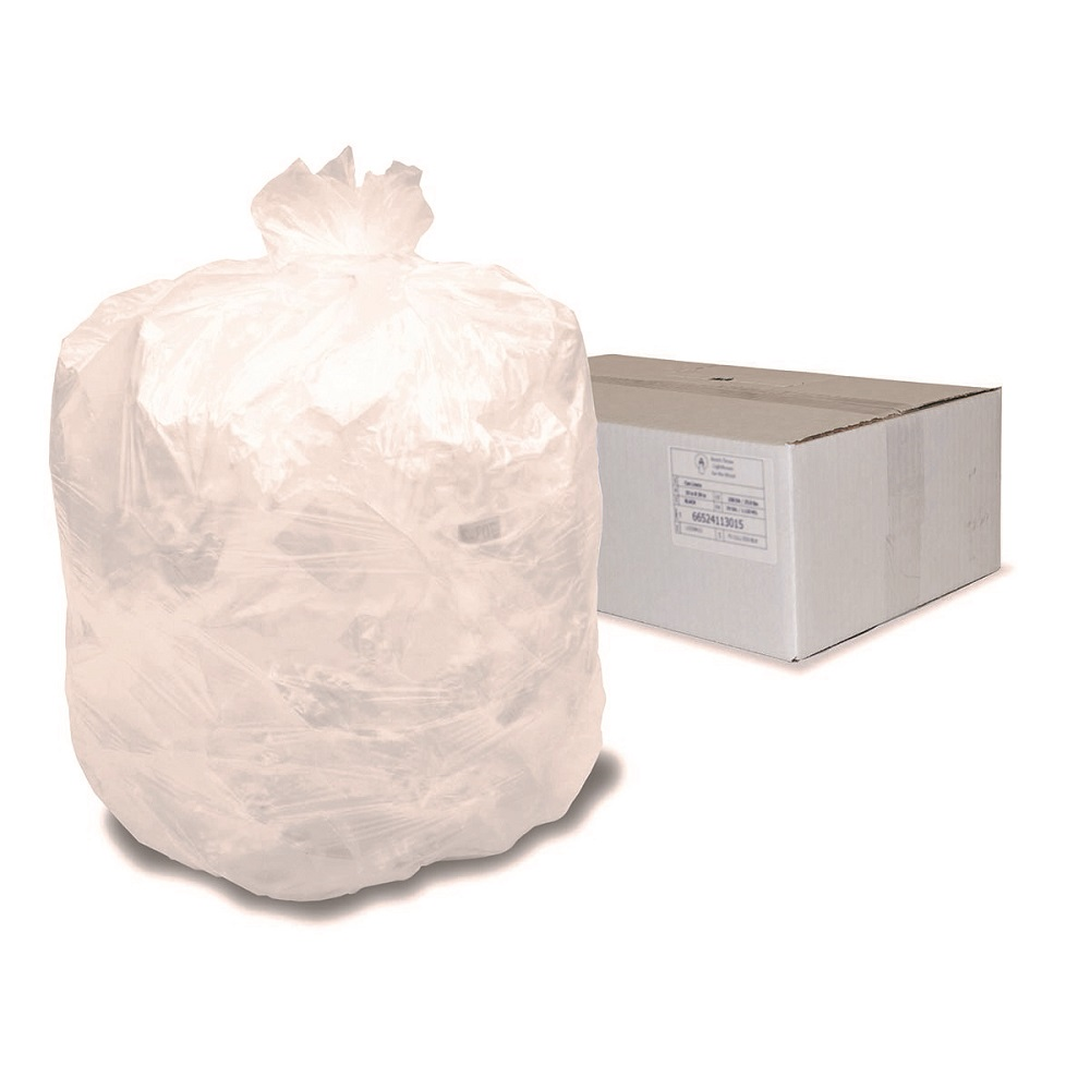 High Density Natural Trash Can Liners 40-45 gallon capacity