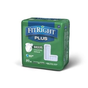 FitRight Plus Briefs, Large